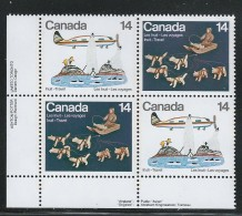 CANADA 1978 SCOTT 771-772** PLATE BLOCK  LL - 1952-.... Elizabeth II