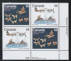 CANADA 1978 SCOTT 771-772** PLATE BLOCK  LR - Ongebruikt