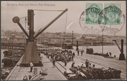 Shipping Wool And Skins, Port Elizabeth, Cape Colony, 1917 - Valentine's RP Postcard - South Africa