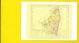 Carte Du Département De 1792 (Blibliothèque Nationale 1789) Ardèche (07) - France