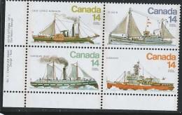 CANADA 1978 SCOTT 776-779** PLATE BLOCK LL - 1952-.... Elizabeth II