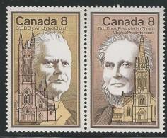 CANADA 1975 SCOTT 662-663** SE-TENANT PAIR + PLATE BLOCK LL - 1952-.... Elizabeth II