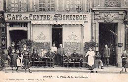CPA De ROUEN - Café Du Centre - Place De La République. - Rouen