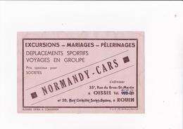 NORMANDY CARS / EXCURSIONS MARIAGES / ROUEN / RUE DU BRAS ST MARTIN / RARE - Transports