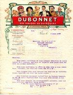 """PARIS.VIN TONIQUE AU QUINQUINA """" DUBONNET """" 7 RUE MORNAY.ILLUSTRATION JULES CHERET. - Alimentare"""