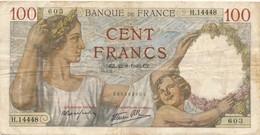 H138 - Billet 100 Francs Type Sully 1940 - 1871-1952 Anciens Francs Circulés Au XXème
