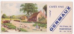 CAFES FINS GERMAUX / MARSEILLE 13 BD BAILLE / RARE - Café & Thé