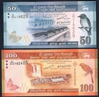 Sri Lanka - 50 Rupees 2010 P124a + 100 Rupees 2010 - P 125a - Sri Lanka