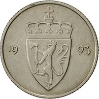 Monnaie, Norvège, Olav V, 50 Öre, 1993, TTB, Copper-nickel, KM:418 - Norvège