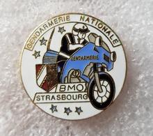 """Pin's Gendarmerie  """" BMO STRASBOURG """" - Militaria"""