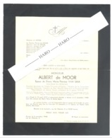 Faire-part Décès De Mr Albert De MOOR , Docteur,... GENT 1879 / ANTWERPEN 1948  (b228) - Obituary Notices
