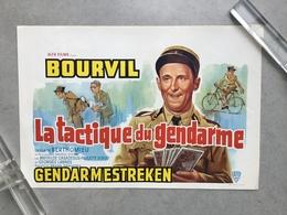 BOURVIL»LA TACTIQUE DU GENDARME «Un Film De BERTHOMIEU 1950 (Format 36,5 X 54 Cm) Très Bon état . - Affiches & Posters