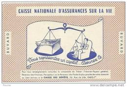 CAISSE NATIONALE D ASSURANCE SUR LA VIE - Buvards, Protège-cahiers Illustrés
