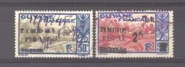 Guyane  -  Fiscaux  :  Yv  120-120A  (o)    Surchargés  :timbre Fiscal - Guyane Française (1886-1949)
