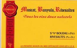 MUSCAT BANYULS RIVESALTES / BOUDAU ET FILS - Liquor & Beer