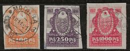 Russie 1921 N° Y&T :  150 à 152 Obl. - Gebraucht