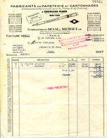 PARIS.FABRICANTS DE PAPETERIE & CARTONNAGES.Ets.DESAL & MICHAUT 23 RUE BICHAT. - Imprimerie & Papeterie