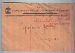 AFFRANCATURA MECCANICA..ROSSA..STORIA POSTALE..P.N.F. FASCIO - Affrancature Meccaniche Rosse (EMA)