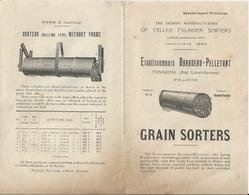 TONNEINS BARADEAU PELLETANT FABRIQUE DE TRIEURS GRAINS SORTERS CATALOGUE EN ANGLAIS ANNEE 1919 - Zonder Classificatie
