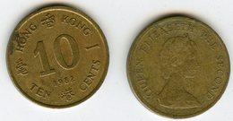 Hong Kong 10 Cents 1982 KM 49 - Hong Kong