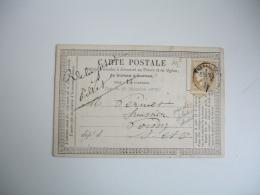 1874 Versailles  Carte Postale Precurseur  Barbu Avoue - Postmark Collection (Covers)
