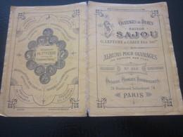 1889 Album Ouvrages De Dames Maison SAJOU Loisirs Créatifs-Guipure S Filet Scrapbooking-Point De Croix-Dessins-Modèles - Scrapbooking