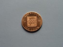 LOENHOUT Kasteel Van Loenhout - 1983 ( 100 Loon ) Goudkleurig ! - Fichas De Municipios