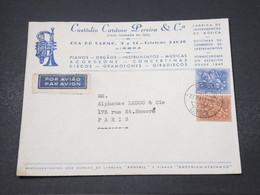 PORTUGAL - Enveloppe Commerciale De Lisboa Pour Paris En 1958 - L 16850 - Lettres & Documents