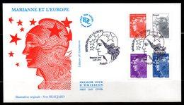 Marianne & L'Europe  4565 à 4571   // Premier Jour FDC  2 Enveloppes  //  2011 - 2010-....