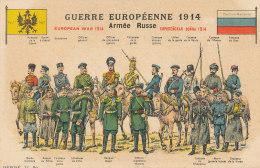 MILITARIA )) GUERRE EUROPEENNE 1914 / ARMEE RUSSE   Illustration  ** - Militaria