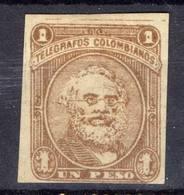 AMÉRIQUE LATINE! Timbre Ancien NEUF TÉLÉGRAPHE De COLOMBIE De 1890 - Colombia