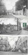 PROVINS - RUE ST THIBAULT 1905  - RUE DES MARAIS 1904 - RUE DE PARIS 1908 - 3 Cartes Animées Anciennes - Provins