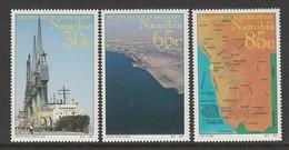 SERIE NEUVE DE NAMIBIE - RATTACHEMENT DU TERRITOIRE DE WALVIS BAY A LA NAMIBIE N° Y&T 724 A 726 - Namibie (1990- ...)
