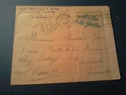 LETTRE EN FRANCHISE MINISTERE DE LA GUERRE  Cabinet De Ministre  GRIFFE BLEUE  PARIS  1933 Pli Au Milieu - Otros