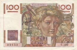H139 - Billet 100 Francs Type Jeune Paysan 1950 - 1871-1952 Antichi Franchi Circolanti Nel XX Secolo