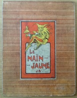 Vintage. Grande Carte (dure) De 29cm X 225cm Avec Les Règles Du Jeu Le Nain Jaune. J. B. Bruxelles. - Jeux De Société
