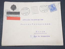 ALLEMAGNE - Enveloppe Télégraphique De Berlin Pour Paris En 1913 - L 16861 - Covers & Documents