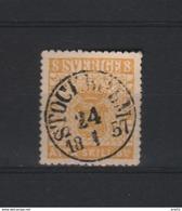 ZWEDEN 1857 STOCKHOLM ZEGEL GESTEMPELD.  ??? - Usati