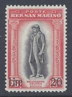 SAN MARINO 1922 STATUA LIBERTA  81/86 - San Marino
