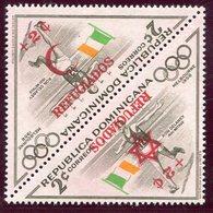 1956-REP.DOMINICANA- -SPORT-REFUGIADOS- RARE  SURCH.INVERTED- 2 VAL.  - M.N.H.-LUXE !! - Dominican Republic