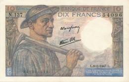 H140 - Billet 20 Francs Type Mineur 1947 - 1871-1952 Gedurende De XXste In Omloop