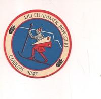 2144) SOTTOBICCHIERE BIRRA LILLEHAMMER BRYGGERI ETABLERT 1847 - Altre Collezioni