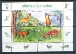 E141-  Miniature Sheet Of Turkey. Animals. Plants. Tree. - Other