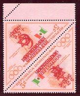 1956-REP.DOMINICANA- -SPORT-REFUGIADOS- RARE  SURCH.DOUBLE + INVERTED- 2 VAL.  - M.N.H.-LUXE !! - Dominican Republic