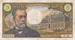 H140 - Billet 5 Francs Type Pasteur 1967 - 1962-1997 ''Francs''