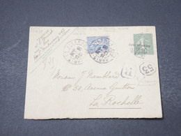FRANCE - Entier Postal En Recommandé De Paris Pour La Rochelle En 1906 - L 16874 - Enveloppes Types Et TSC (avant 1995)