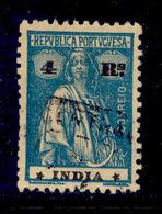 ! ! Portuguese India - 1922 Ceres 4 R - Af. 314 - Used - Portuguese India
