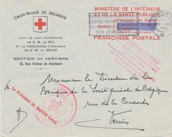 ZZ597 - Belgique - Enveloppe En FRANCHISE CROIX ROUGE Verviers 1942 - Convention De Buenos Ayres - Red Cross