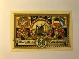 Allemagne Notgeld Rosenheim 50 Pfennig - [ 3] 1918-1933 : Weimar Republic