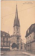 Reims, Eglise Saint André. CPA Légèrement Animée. Magasin Goulet Turpin, Excellent état - Reims